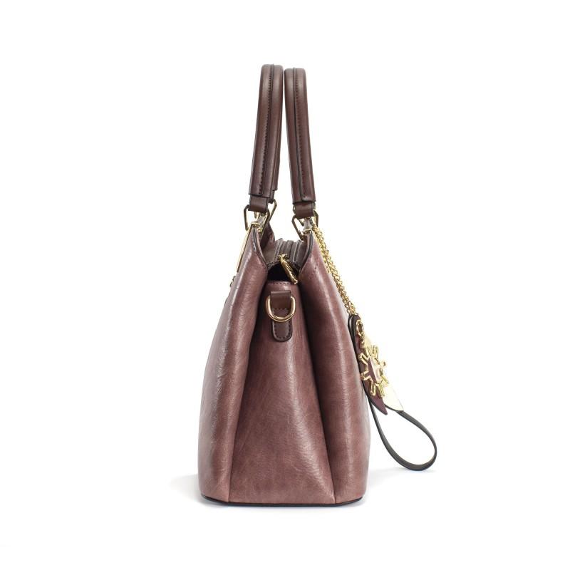 Женская классическая сумка Tiffany сиреневая - 3 фото