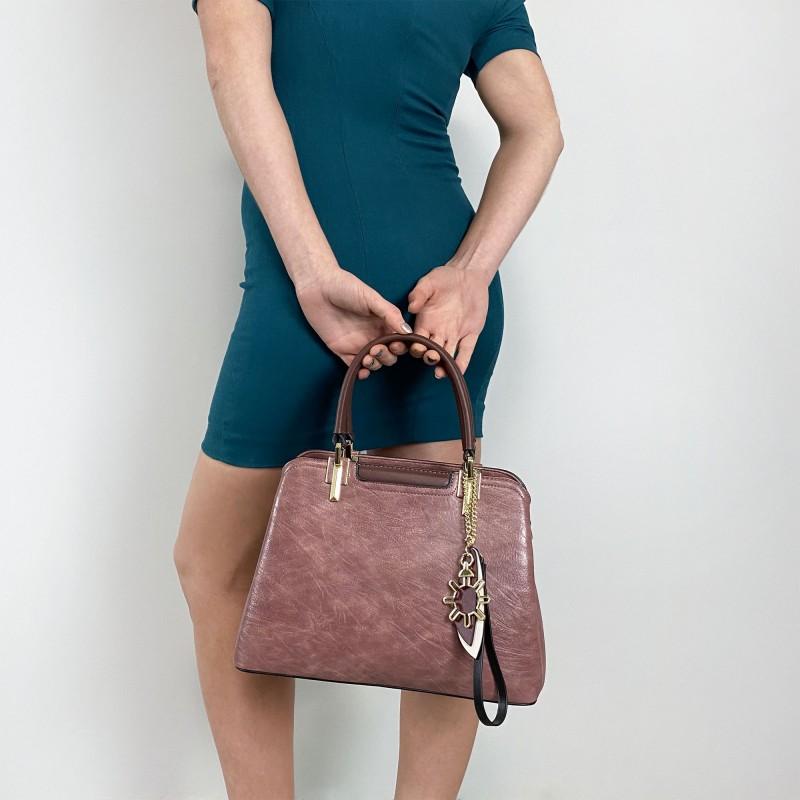 Женская классическая сумка Tiffany сиреневая - 4 фото