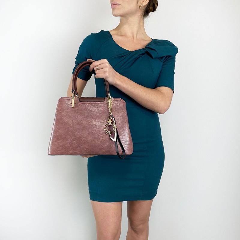 Женская классическая сумка Tiffany сиреневая - 5 фото