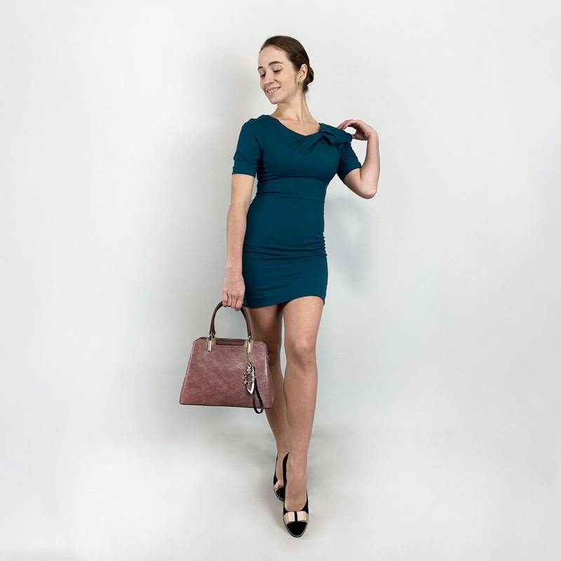 Женская классическая сумка Tiffany сиреневая - 6 фото