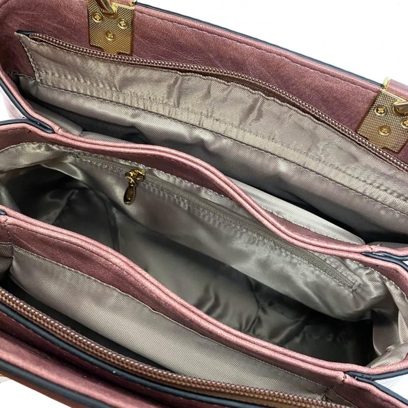 Женская классическая сумка Tiffany сиреневая - 8 фото