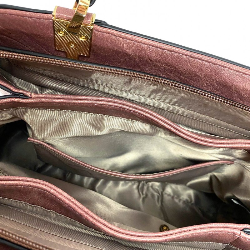 Женская классическая сумка Tiffany сиреневая - 9 фото