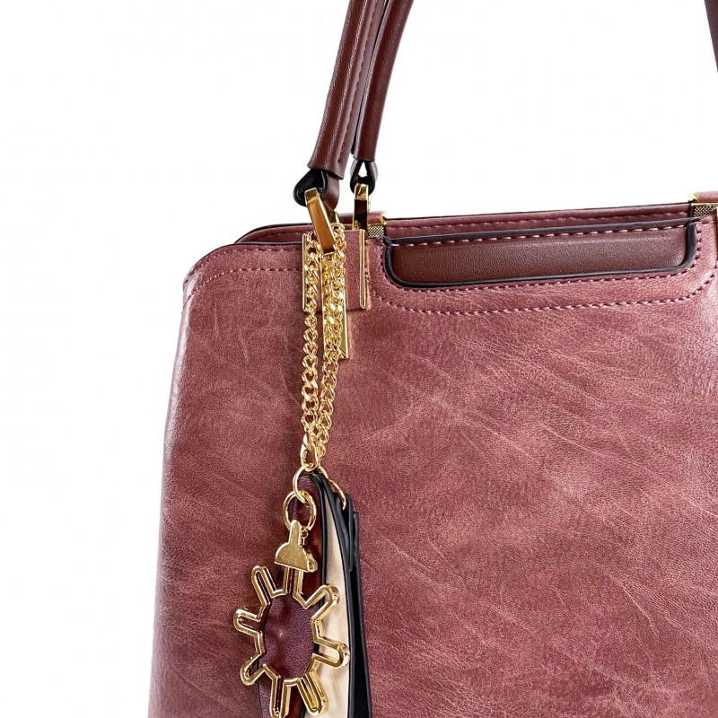Женская классическая сумка Tiffany сиреневая - 10 фото