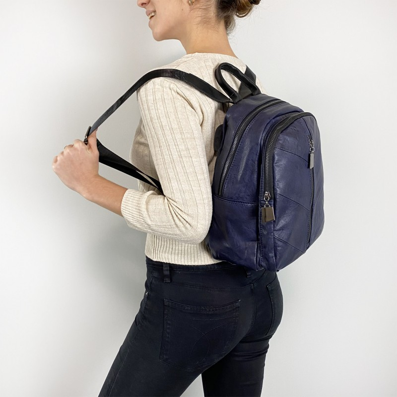 Женский рюкзак Jenny синий - 6 фото