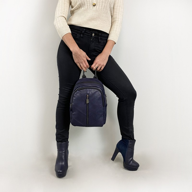 Женский рюкзак Jenny синий - 7 фото