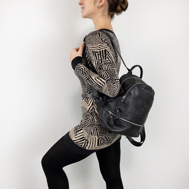 Женский рюкзак Sandy черный - 5 фото