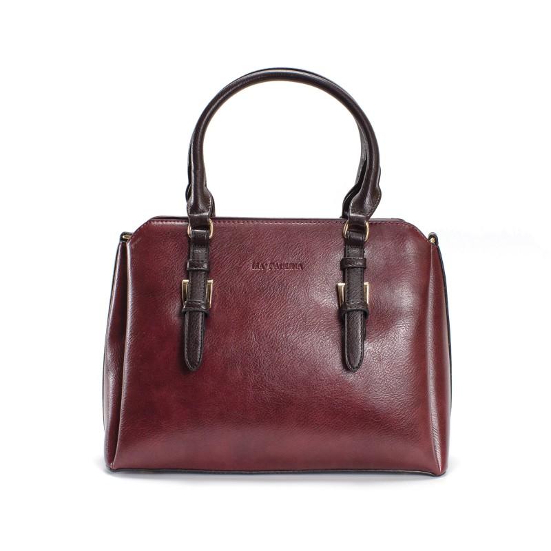 Женская классическая сумка Isa Paulina IP бордовая фото