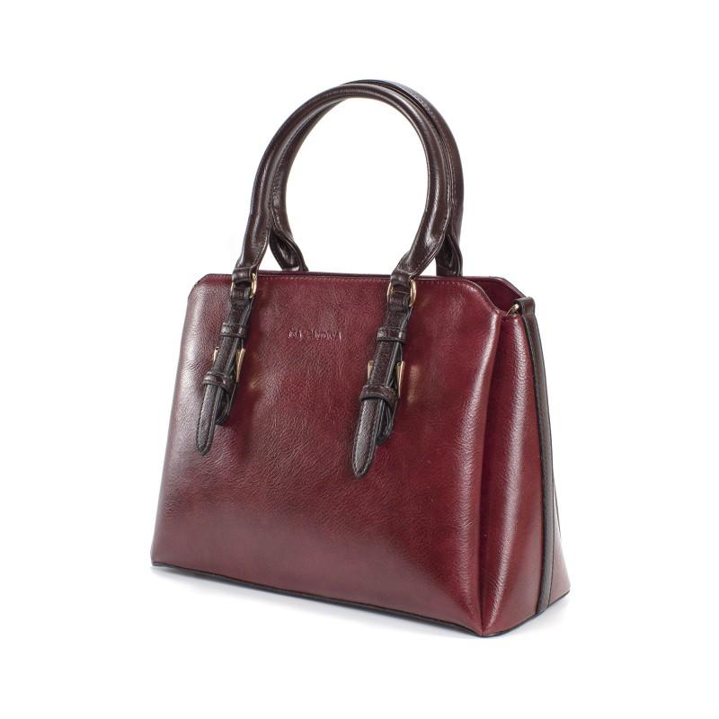 Женская классическая сумка Isa Paulina IP бордовая - 1 фото