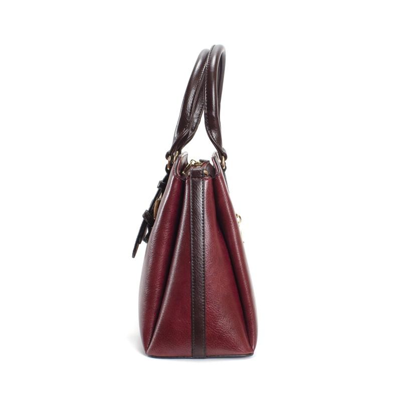Женская классическая сумка Isa Paulina IP бордовая - 2 фото