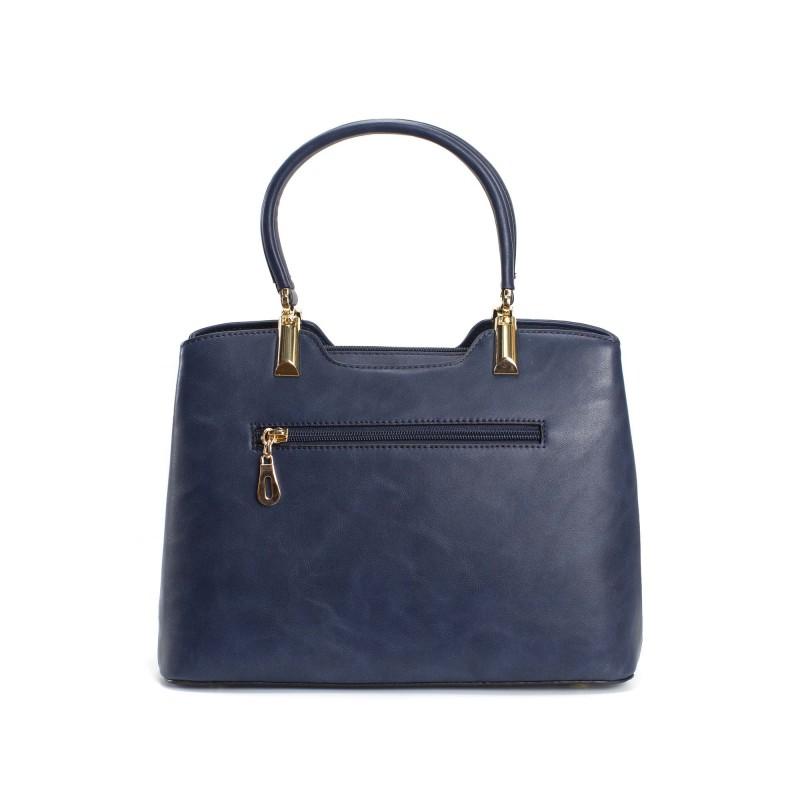 Женская классическая сумка Isa Paulina Fly синяя - 3 фото