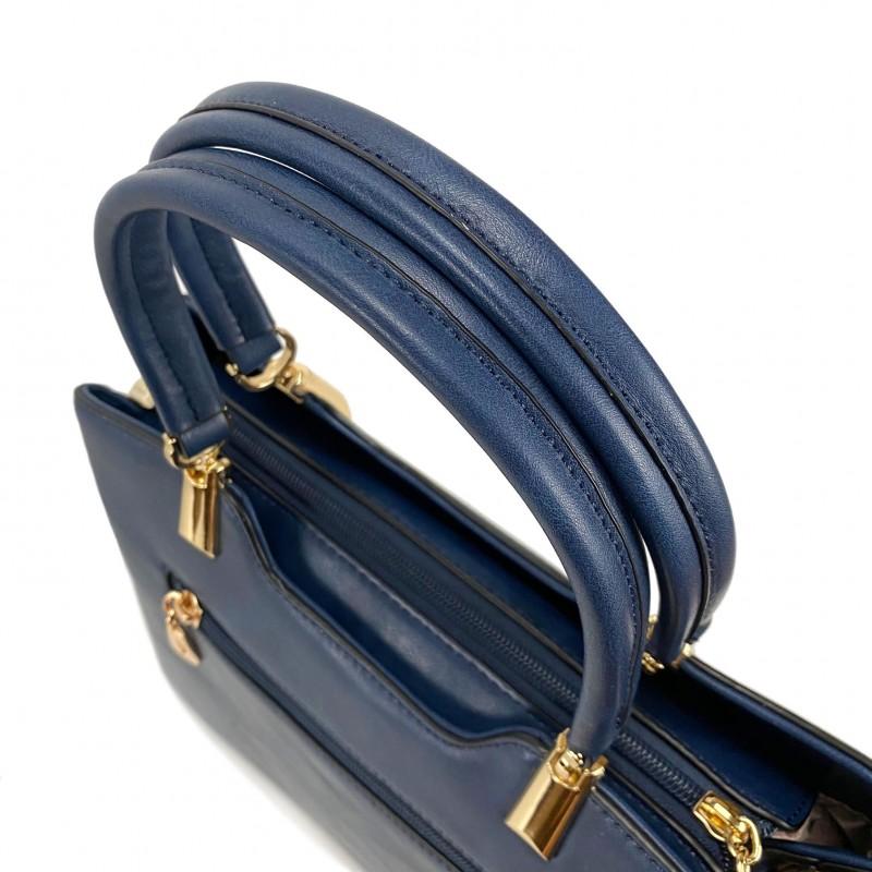 Женская классическая сумка Isa Paulina Fly синяя - 4 фото