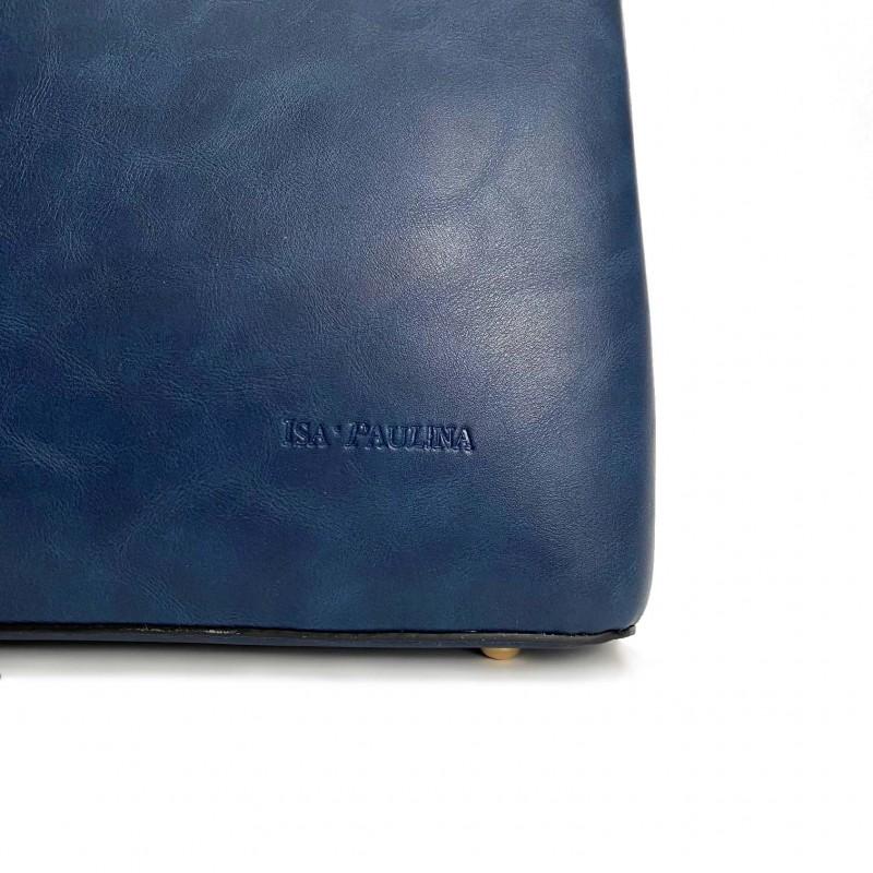 Женская классическая сумка Isa Paulina Fly синяя - 7 фото