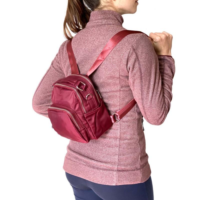 Женский рюкзак Vox бордовый - 3 фото