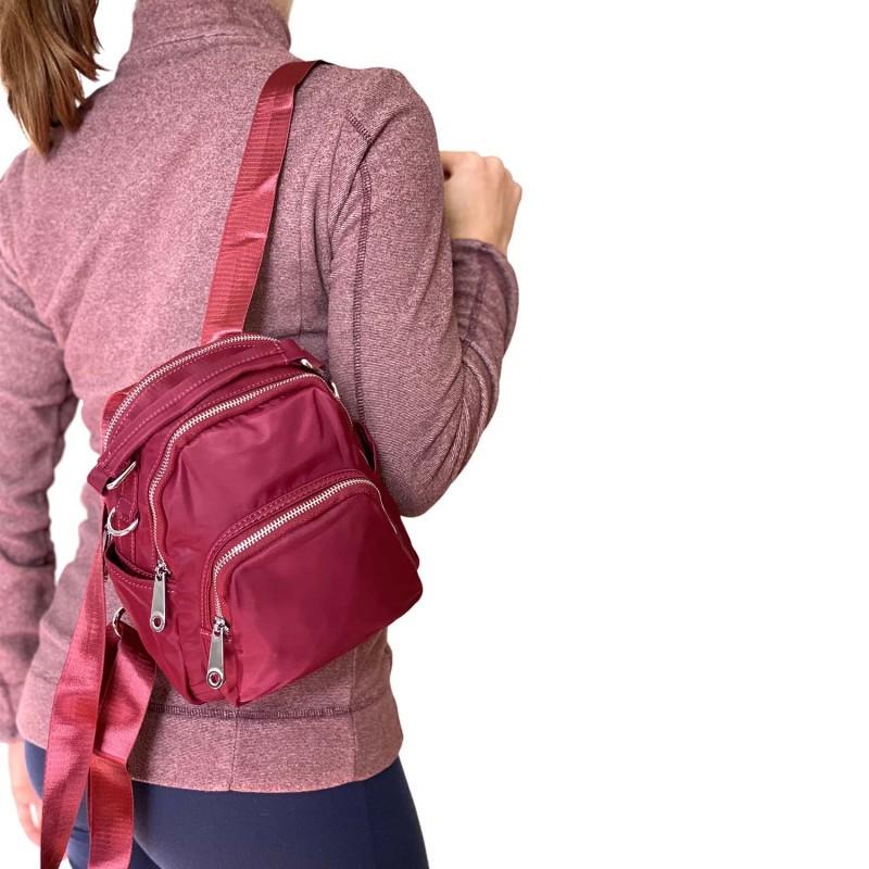 Женский рюкзак Vox бордовый - 4 фото
