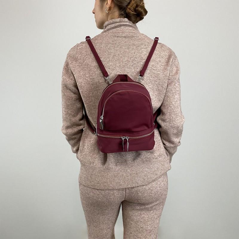 Женский рюкзак Eva бордовый - 4 фото