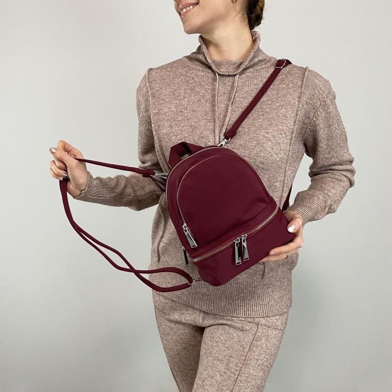 Женский рюкзак Eva бордовый - 5 фото