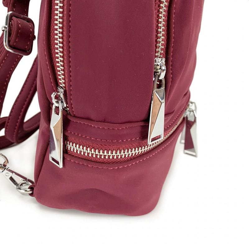 Женский рюкзак Eva бордовый - 6 фото
