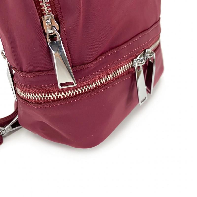 Женский рюкзак Eva бордовый - 7 фото