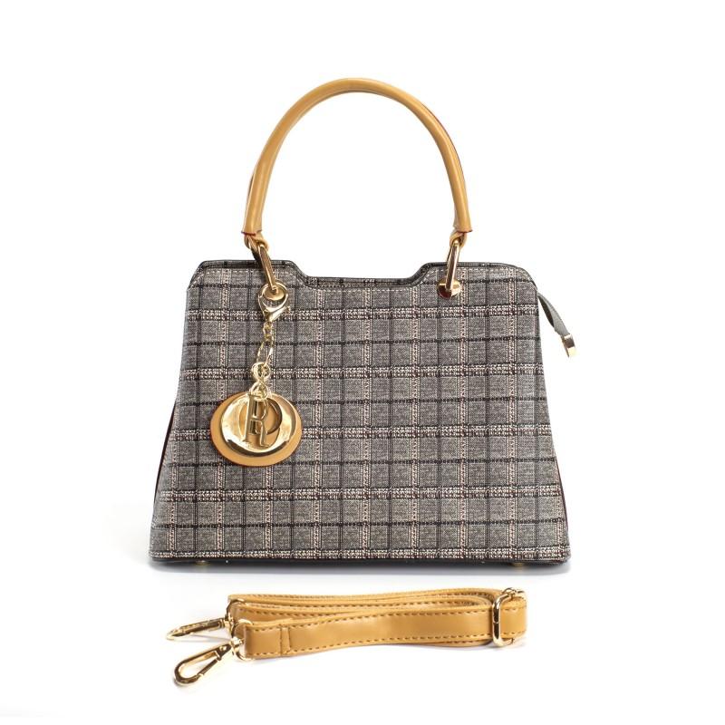 Женская классическая сумка Melody серая - 6 фото