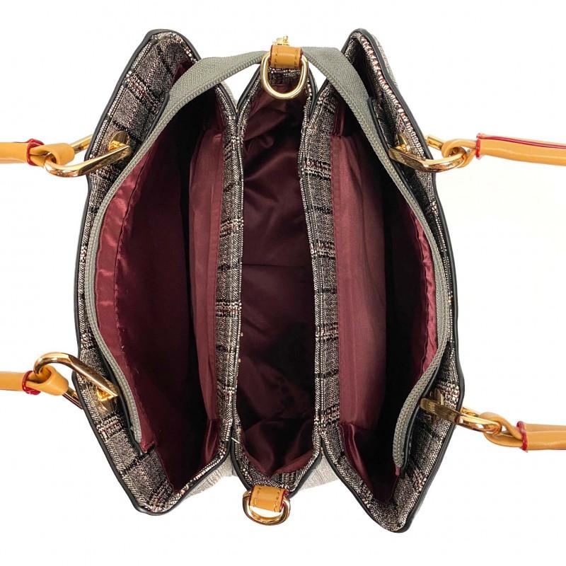 Женская классическая сумка Melody серая - 7 фото
