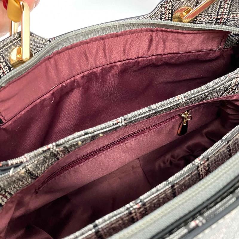Женская классическая сумка Melody серая - 8 фото