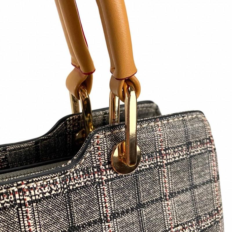 Женская классическая сумка Melody серая - 10 фото