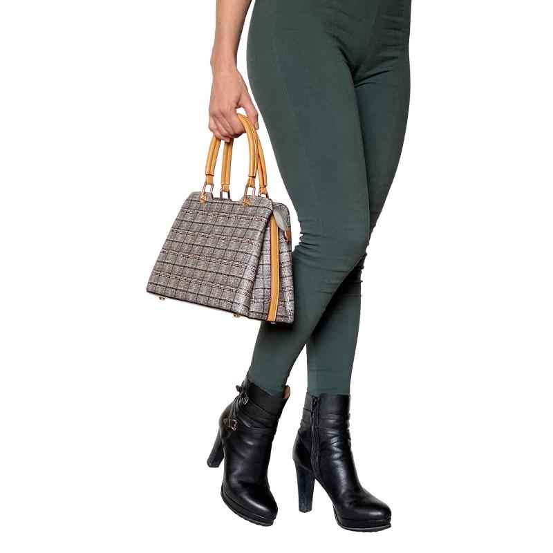 Женская классическая сумка Melody серая - 12 фото