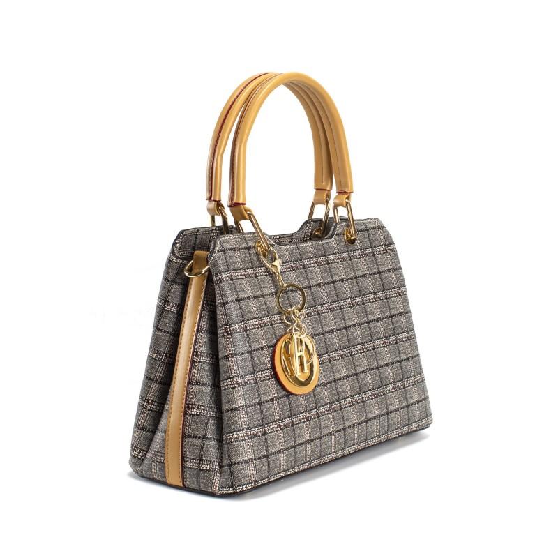 Женская классическая сумка Melody серая - 13 фото