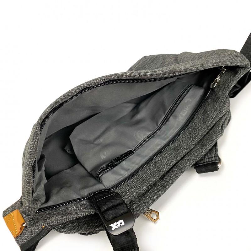 Мужская сумка Mackar Style кросс боди через плечо серая - 5 фото