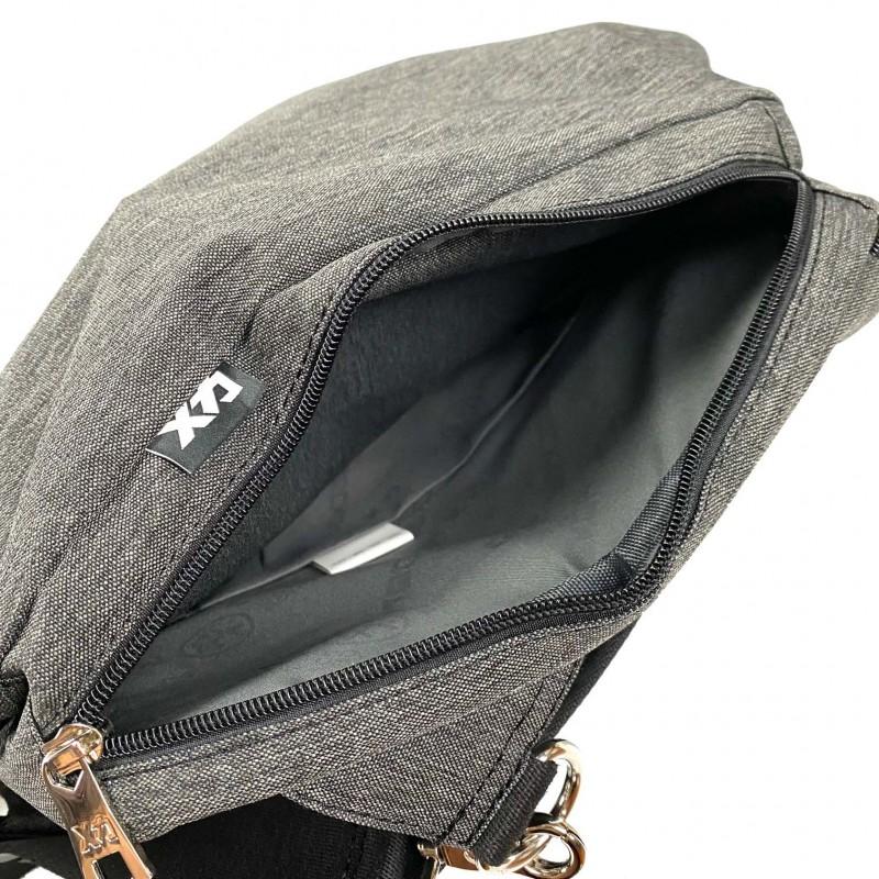 Мужская сумка Mackar Style кросс боди через плечо серая - 6 фото