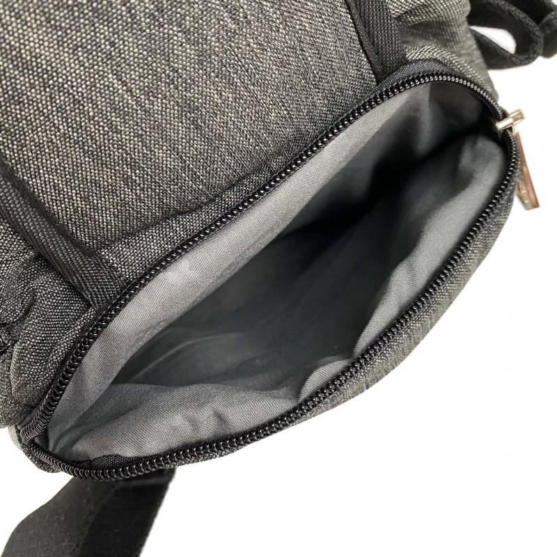 Мужская сумка Mackar Style кросс боди через плечо серая - 8 фото