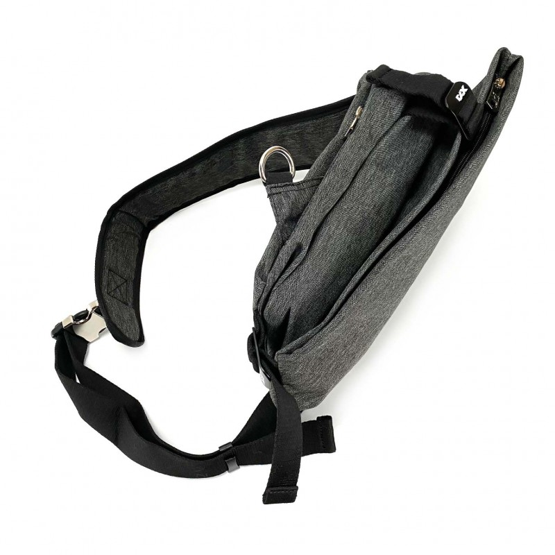 Мужская сумка Mackar Style кросс боди через плечо серая - 9 фото