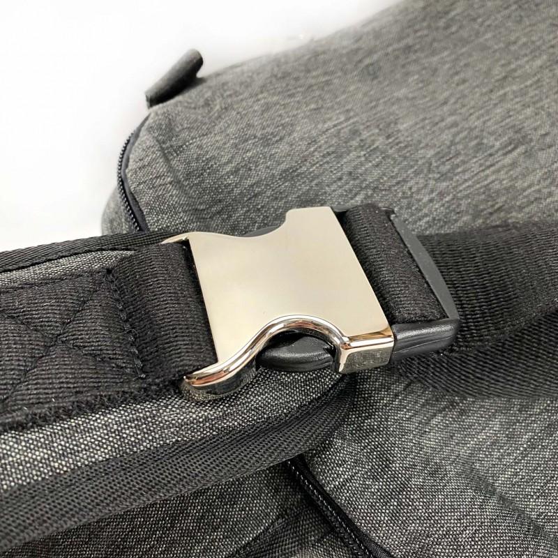 Мужская сумка Mackar Style кросс боди через плечо серая - 10 фото
