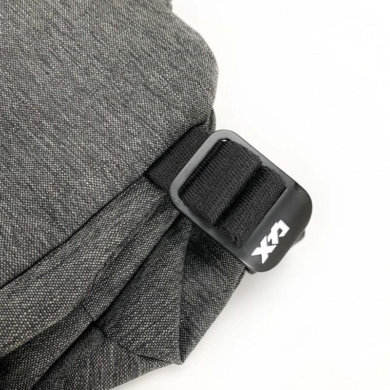 Мужская сумка Mackar Style кросс боди через плечо серая - 11 фото