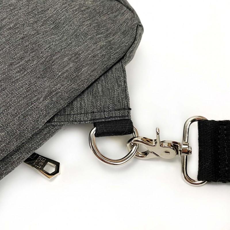 Мужская сумка Mackar Style кросс боди через плечо серая - 12 фото