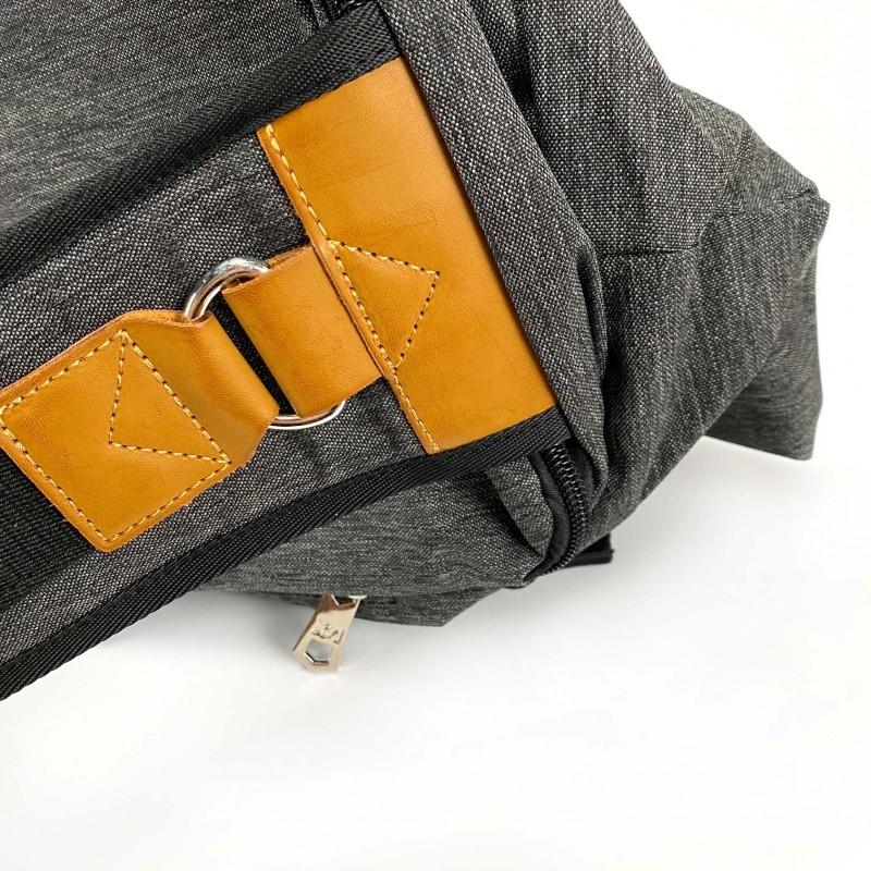 Мужская сумка Mackar Style кросс боди через плечо серая - 13 фото