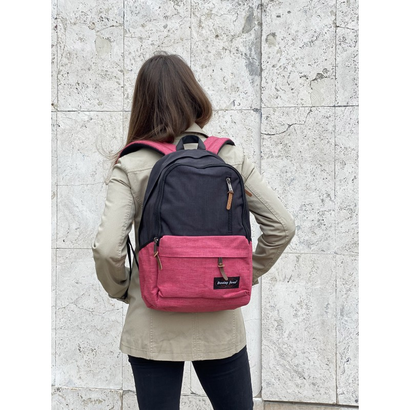 Женский рюкзак Fashion черно-розовый - 4 фото