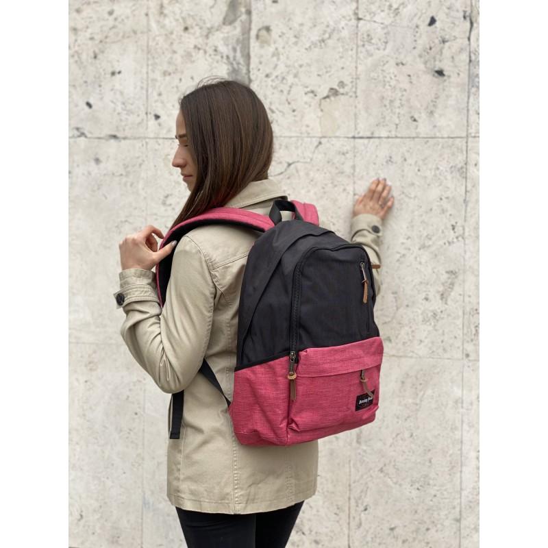 Женский рюкзак Fashion черно-розовый - 5 фото