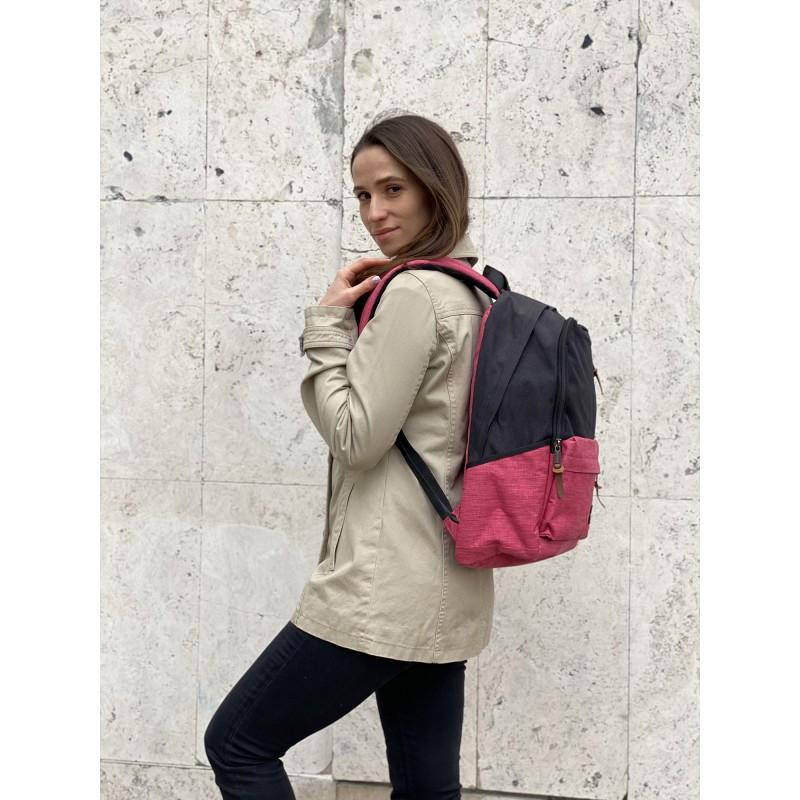 Женский рюкзак Fashion черно-розовый - 6 фото