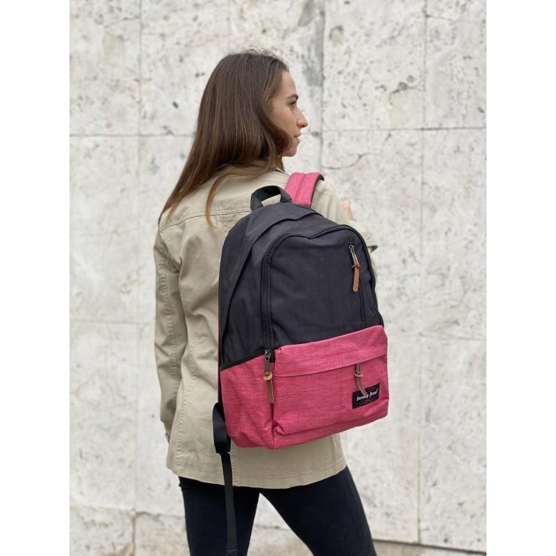 Женский рюкзак Fashion черно-розовый - 7 фото