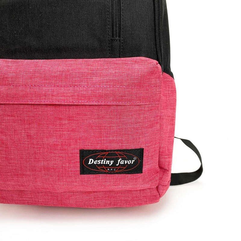 Женский рюкзак Fashion черно-розовый - 8 фото