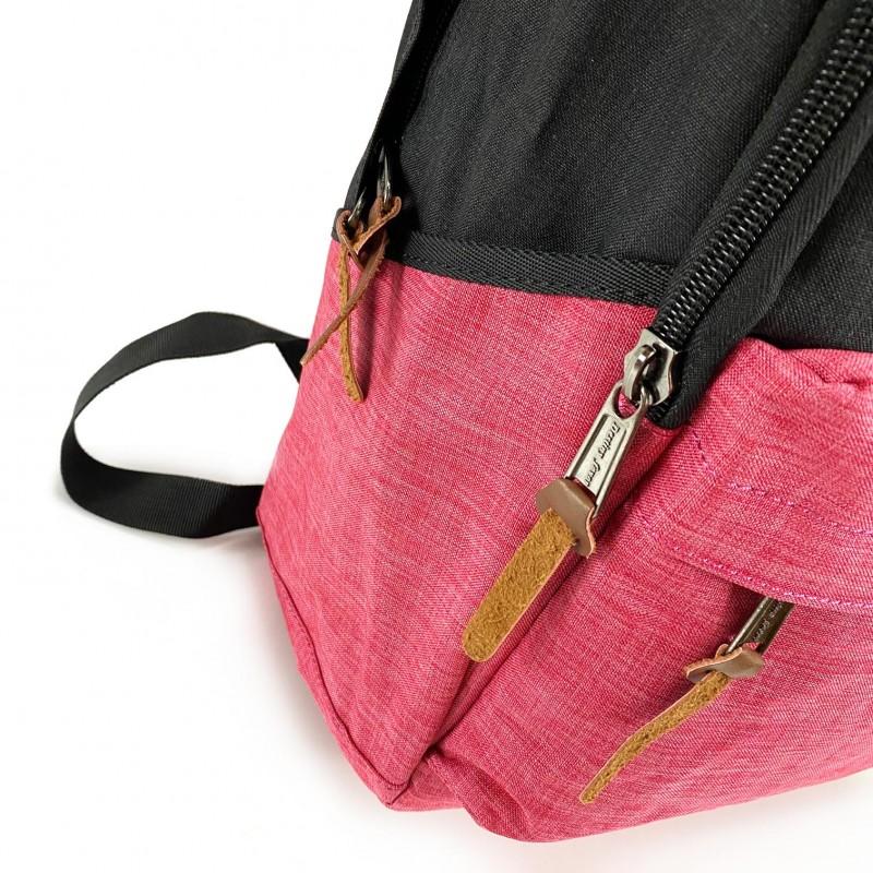 Женский рюкзак Fashion черно-розовый - 9 фото