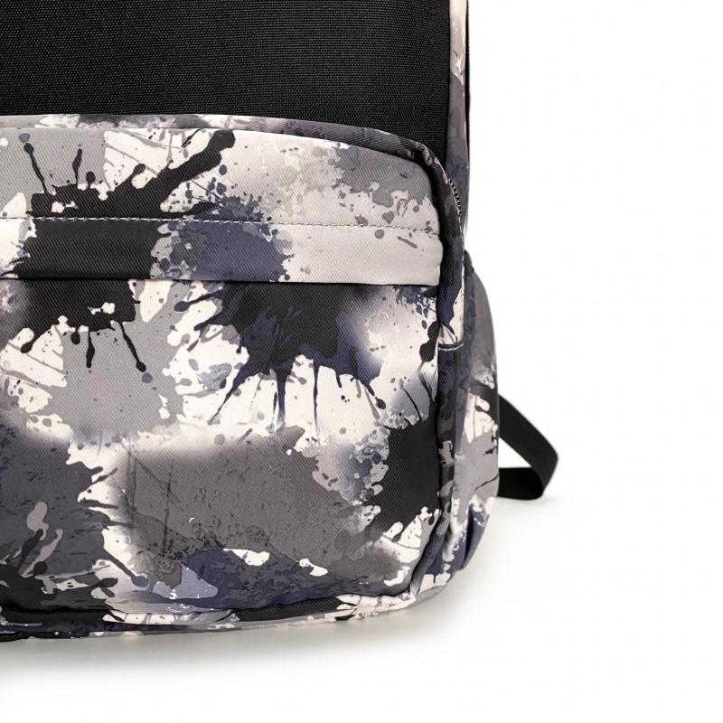 Рюкзак Galaxy Blur чорно-білий - 9 фото