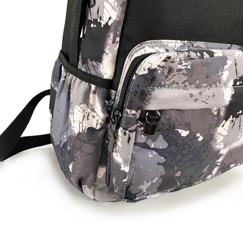 Рюкзак Galaxy Blur чорно-білий - 10 фото