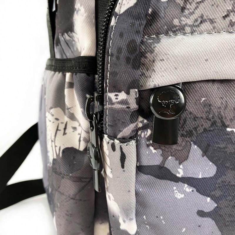 Рюкзак Galaxy Blur чорно-білий - 11 фото