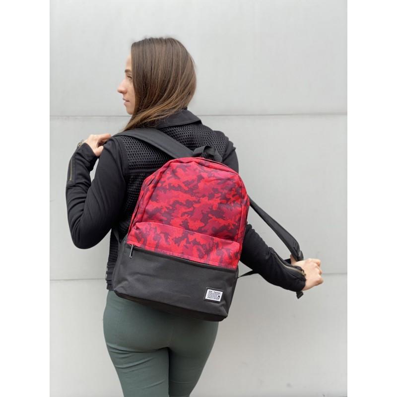 Рюкзак Battle бордовий камуфляж - 4 фото