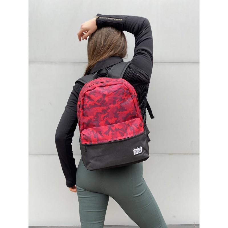 Рюкзак Battle бордовий камуфляж - 5 фото