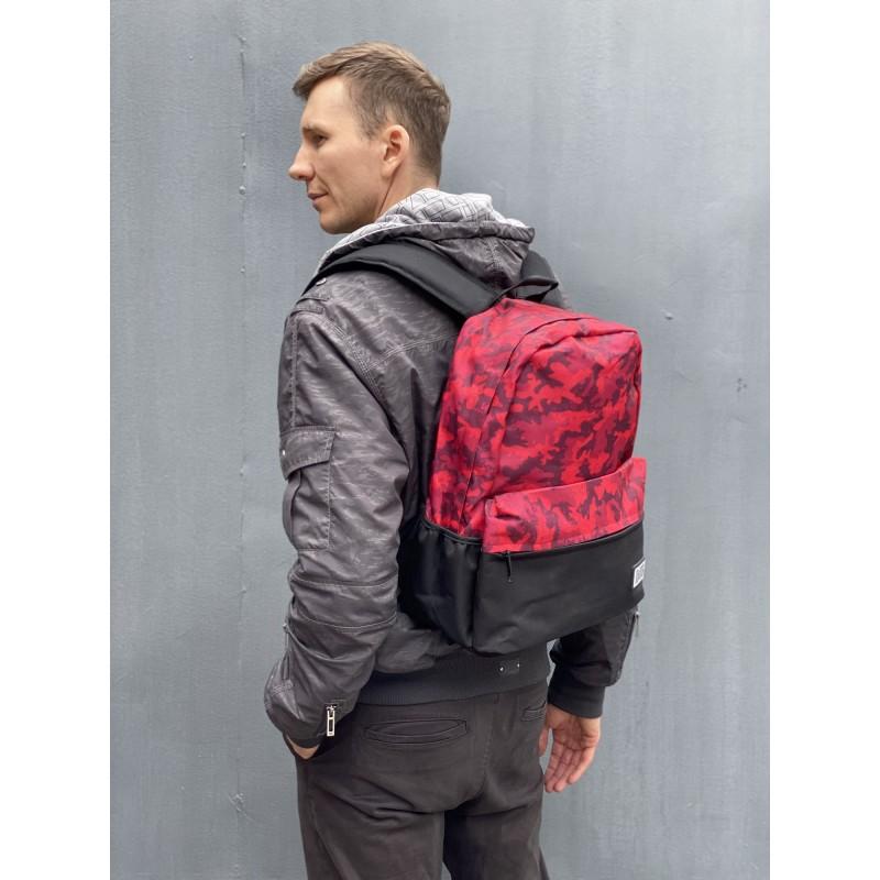 Рюкзак Battle бордовый камуфляж - 6 фото
