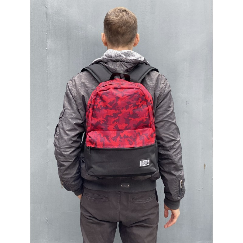 Рюкзак Battle бордовий камуфляж - 7 фото