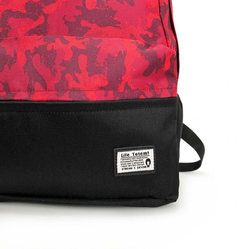 Рюкзак Battle бордовий камуфляж - 8 фото